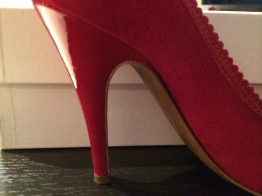 Moschino Cheap And Chic Peep Red Pumps