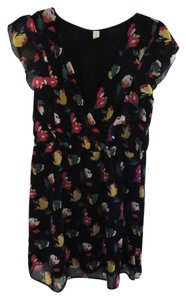 Old Navy short dress Black Floral on Tradesy