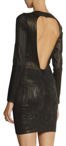 Roberto Cavalli Leather Paneled Dress