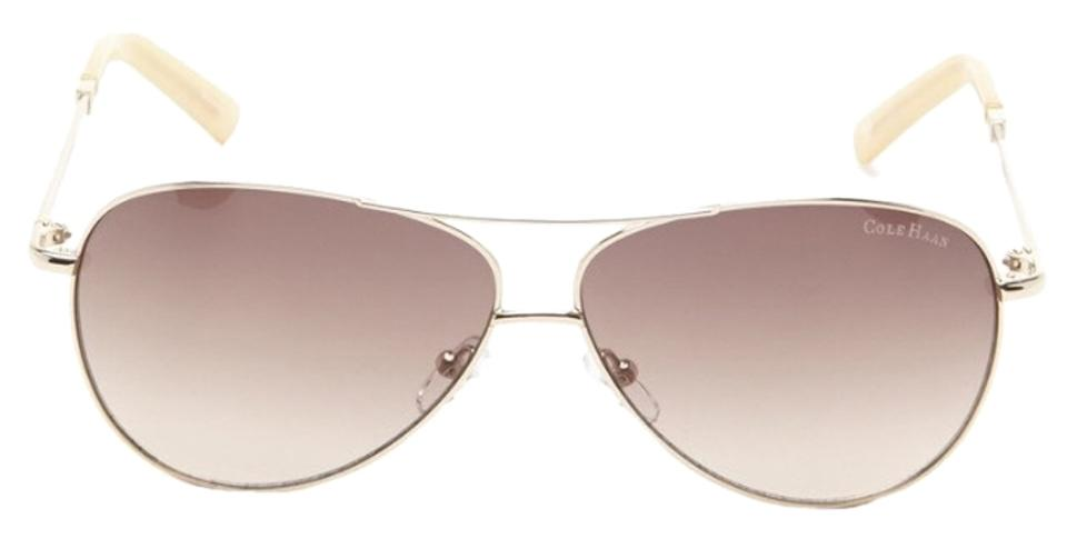 8ad6716e8a Cole Haan NWT Cole Haan C 669 Aviator Sunglasses Distressed Gold Image 0 ...