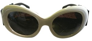 Chanel Chanel Oversized Round Polarized Cream Bow Sunglasses. New. 5282Q C1428/S9