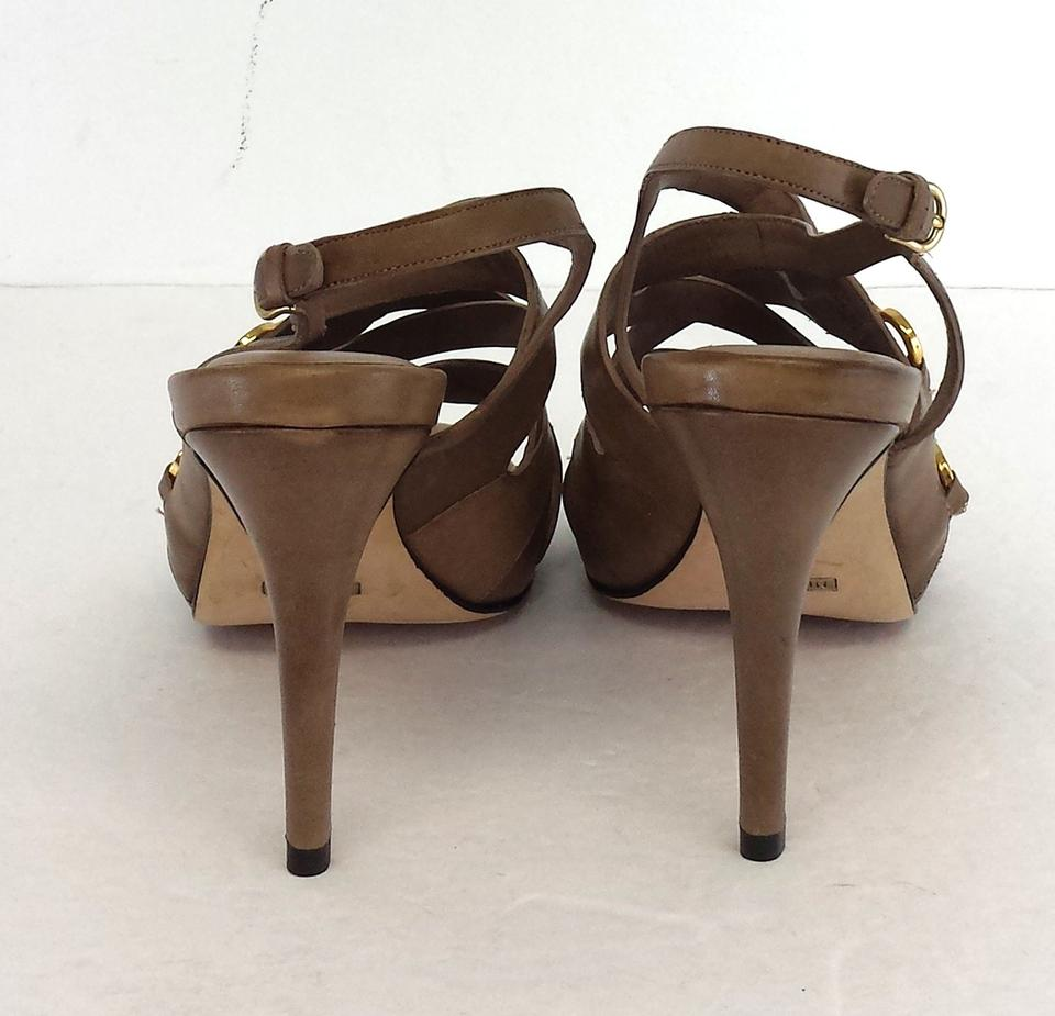 5e96f83376a3 Cole Haan Leather Criss Cross Strappy Heels Sandals Size US 9 - Tradesy
