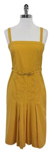 Moschino short dress Mustard Yellow Pleated on Tradesy