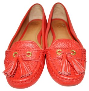 Coach Moccasin Boat Flat Red Flats