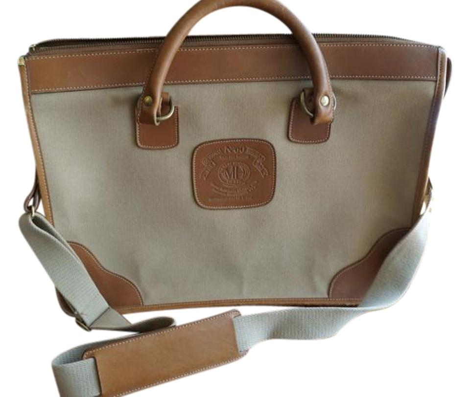 Ghurka Vintage Crossbody Canvas Briefcase Limited Edition Tan And Brown Messenger Bag