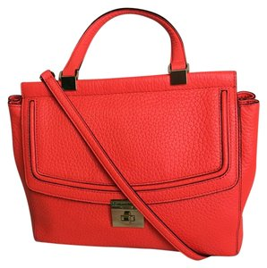 Kate Spade Shoulder Crossbody Satchel in Orange Red