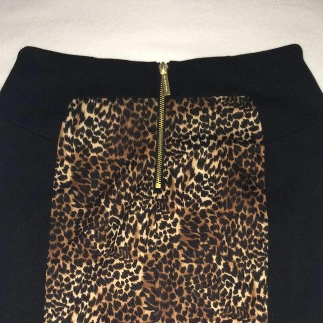 Michael Kors Skirt Black & Leopard
