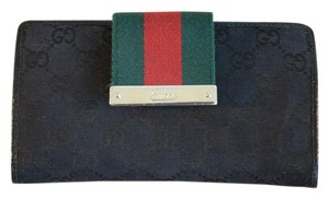 Gucci Gucci GG Canvas Leather Wallet