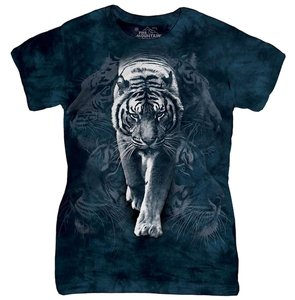 Other Cotton Animal Print Graphic Tee Tiger T Shirt multi-color