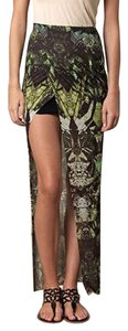 Helmut Lang Asymmetrical Skirt Green