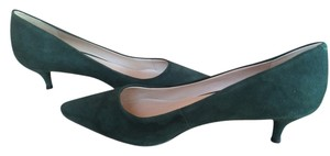 Nine West Hunter Green Suede Pumps