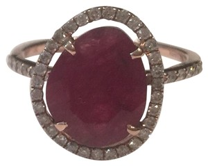 Meira T Meira T pave diamond rose gold ruby ring