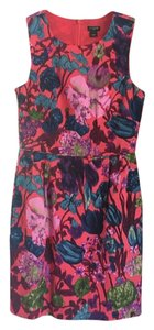 J.Crew short dress Coral A-line Floral on Tradesy