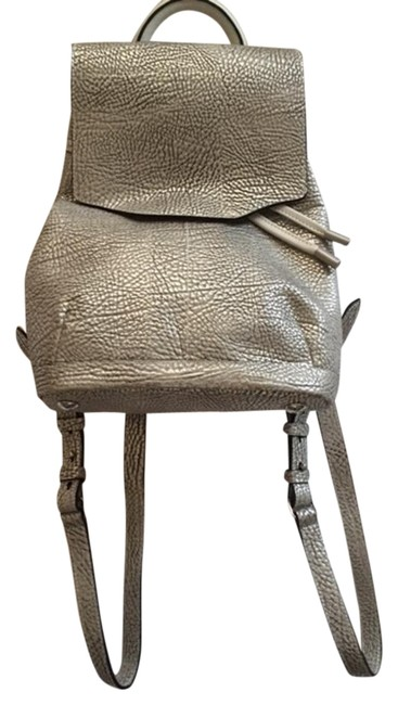 Item - Mini Pilot Crackle Silver Leather Backpack
