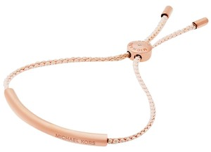 Michael Kors Michael Kors Rose Gold-Tone Braided Adjustable Bracelet