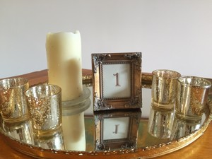 Modern Vintage Gold Table Numbers Reception Decoration