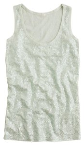 J.Crew Sequins Holidays Winter Top Green