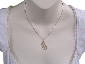 Other Vintage Sterling Silver Swirl Monkey Necklace