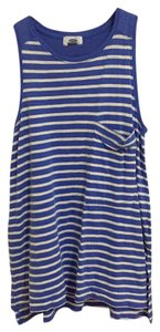 Old Navy Stripes Swings Top Blue and white
