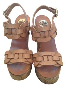 Tory Burch Tan Wedges