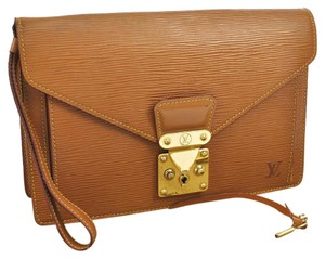 Louis Vuitton Sellier Dragonne Brown Epi Clutch