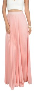 Other Summer16 Pleated Want Maxi Skirt Blush