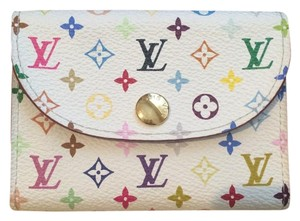 Louis Vuitton SALE Authentic Louis Vuitton Multicolor Card Case Blanc