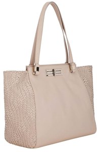 Elliott Lucca Leather Tote in Cream