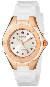 Michele MICHELE WOMEN'S TAHITIAN JELLY BEAN ROSE GOLD WHITE WATCH MWW12P000003