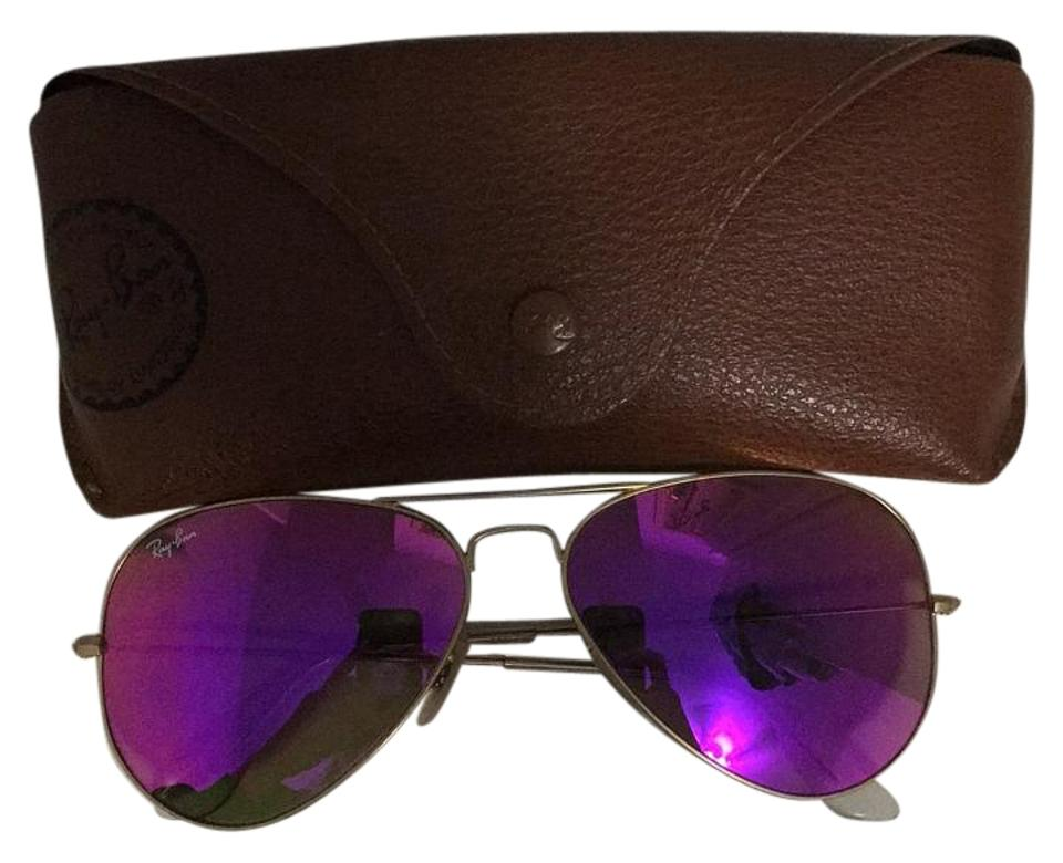 24f6ced98 Ray-Ban Frame: Gold Lenses: Cyclamen Flash Rb3025 112/4t 58-14 Sunglasses