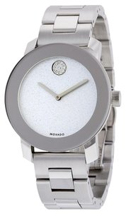 Movado Silver tone Stainless Steel Classic Elegant Designer Ladies Watch