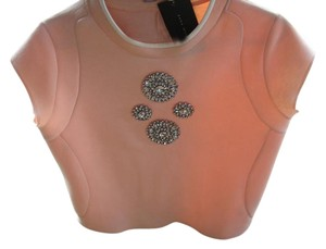 Zara Studded Embellished Top Pink