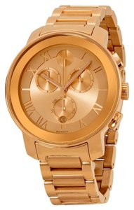 Movado Rose Gold Stainless Steel Casual Chic Ladies Designer Watch