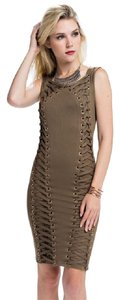 Other Want Eyelet Grommet Dress