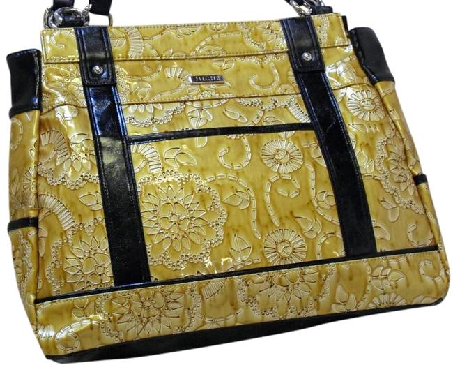 Item - Out Of Business Allie New In Pkg Prima Size Interchangeable Face Purse Shell Yellow Faux Leather Satchel