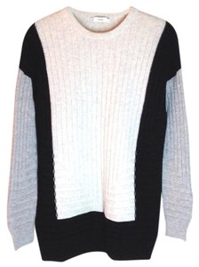 Vince Intarsia Ribbed Sweater