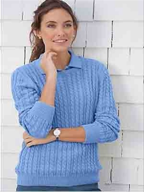 Appleseed's Crewneck Cableknit Cotton Xl Large 1x Sweater