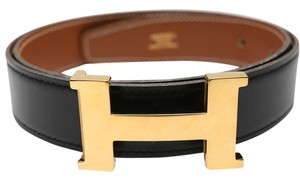 Hermès Constance Reversible H Buckle Belt Brown Black Leather