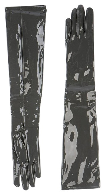 Item - Gray Nib/Nwt Long Couture Patent Leather Gloves
