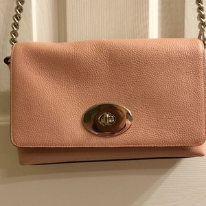 Coach Leather Pebbled Cross Body Bag