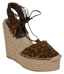Saint Laurent Animal Print Wedges