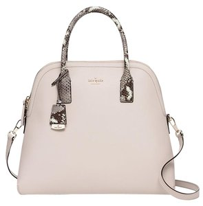 Kate Spade Cameron Street Margot Mega Shoulder Strap Satchel in Crisp Linen