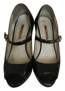 Prada Daywear Workwear Comfy Black Wedges