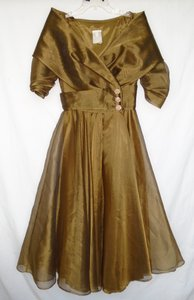 Watters & Watters Bridal Bronze Tea Lengthbronze Mob Dress Dress