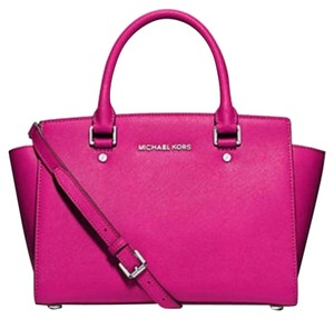 Michael Kors Selma Satchel in Pink