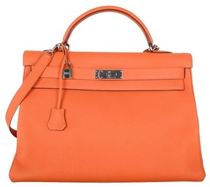 Herms Satchel in Orange