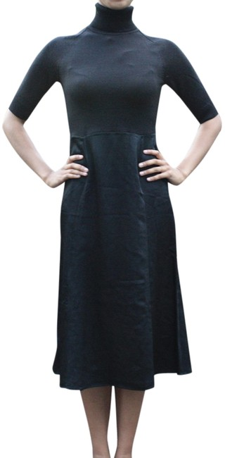 Item - Black Satin Long Work/Office Dress Size 2 (XS)