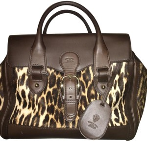 Gucci Satchel in Brown / Animal Print