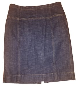 Anne Klein Stretch Pencil Skirt denim