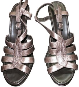 Donald J. Pliner J Bronze Sandals Heels Metallic Brown Pumps